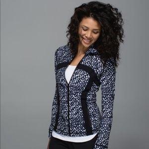 LIKE NEW! Lululemon Define Jacket Net Pop B&W - 8